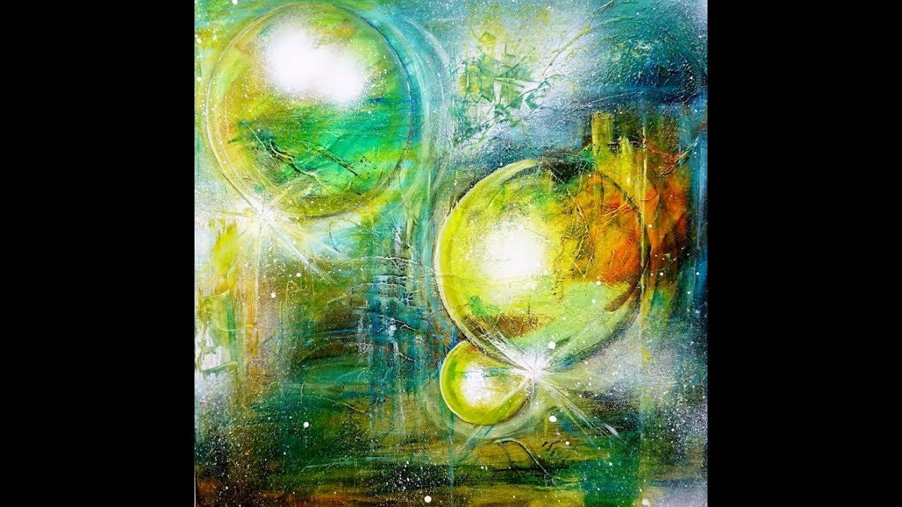 Malen Mit Acrylfarben Mond Ahren Moon Acrylic Paintnig