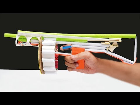 DIY Paper Gun - How to Make a Paper Gun that Shoots