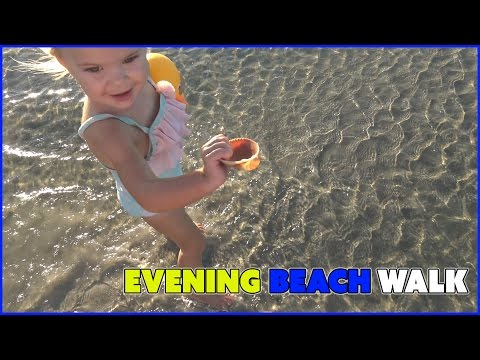 EVENING BEACH WALK  BY THE OCEAN | FAMILY VLOG EP 20 | SMELLY BELLY TV