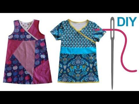 DIY Kleid nähen für Anfänger – einfaches Kinderkleid – Zierstoff ...