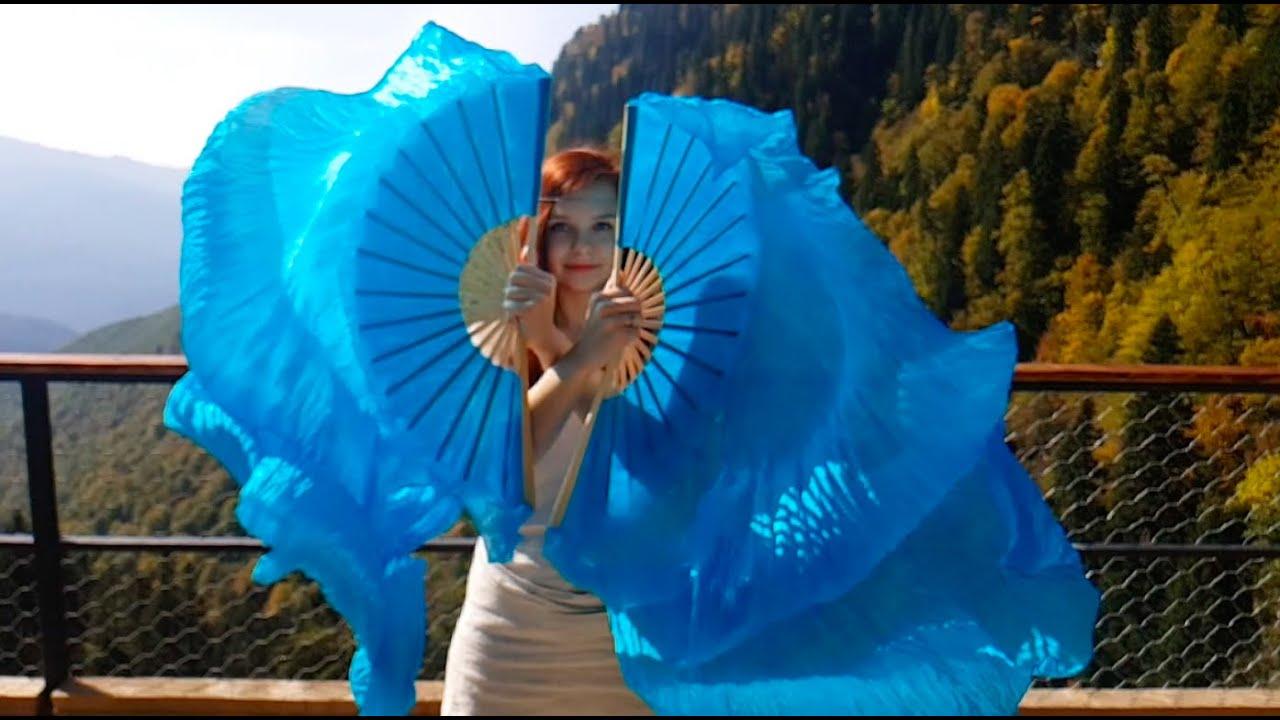 Silk fans dance | Online course Elements of Flow