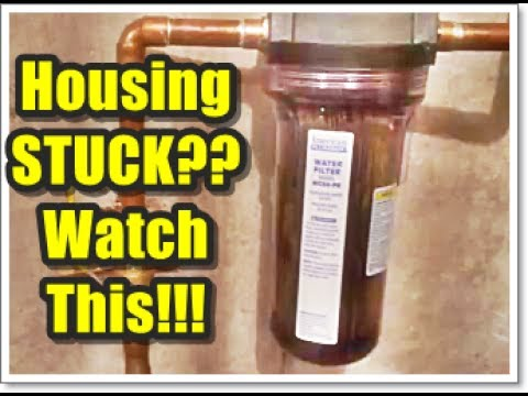 How To Change A Whole House Water Filter When The Housing Is STUCK Won't Turn Tutorial