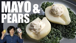 Miracle Whip Pear Salad | Mayonnaise & Pears | Retro Recipe
