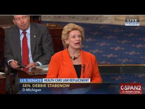 Senator Debbie Stabenow Vs Senator John Cornyn On Senate Healthcare Bill