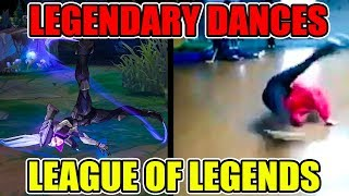 LEGENDARY SKINS 2017 DANCE REFERENCES (Lee Sin, Caitlyn, Riven, Yasuo, Vayne, & Ahri) - League