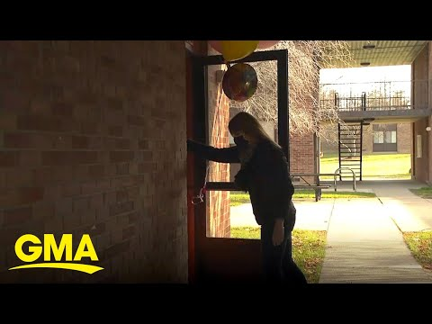 Volunteers deliver cheer to students in quarantine