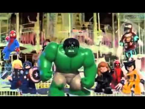 LEGO hulk does gangnam style bad boy YouTube
