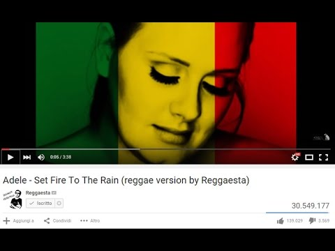 Adele  Set Fire To The Rain original reggae version  Reggaesta + LYRICS