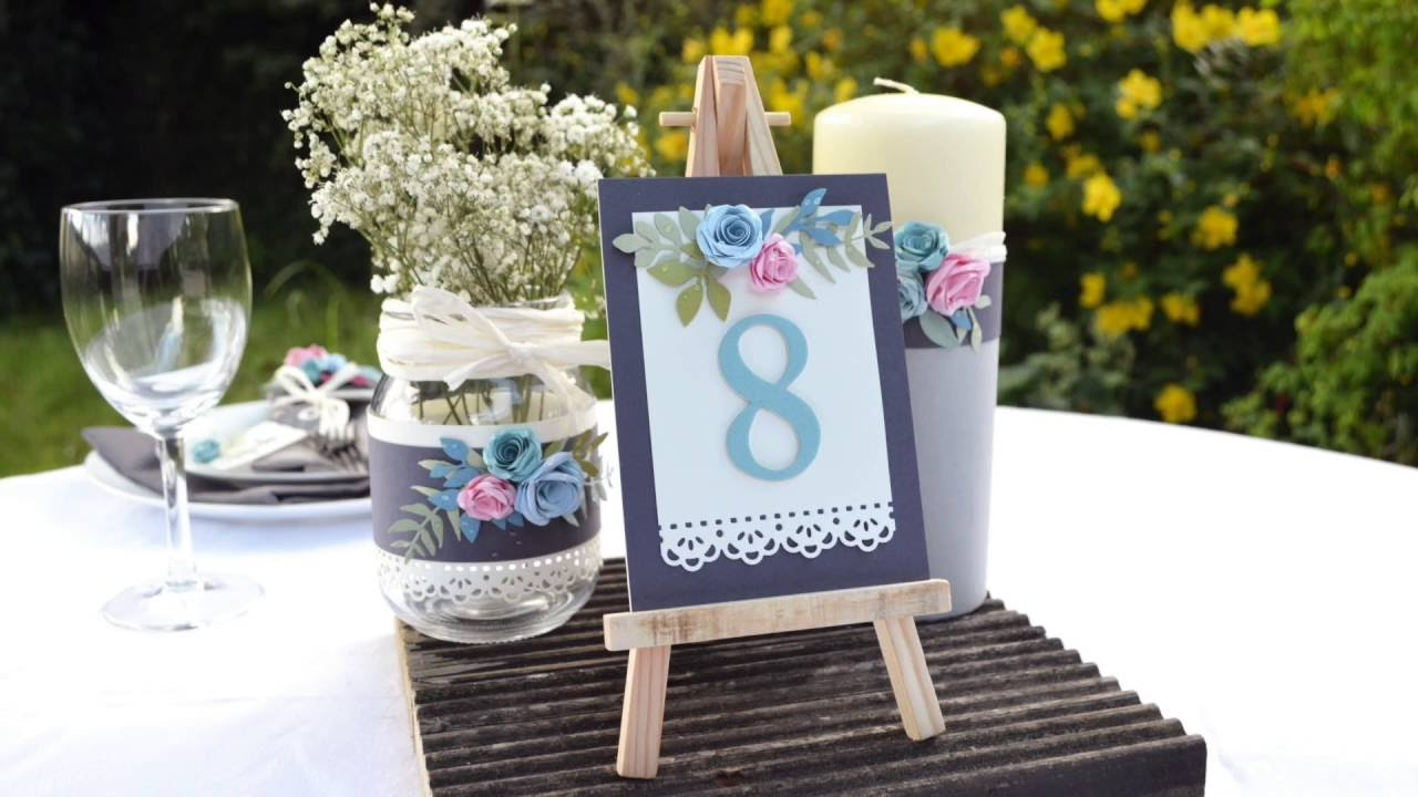 Quick Make Diy Wedding Table Numbers