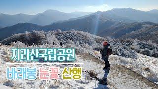 [지리산국립공원] 지리산 바래봉 눈꽃 산행 | Jiri…