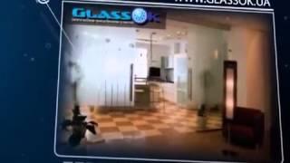 видео стеклянные двери в Киеве