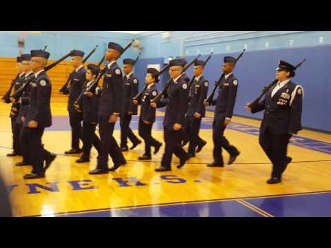 Jrotc Drill Competition 2016 NYC Aviation high school -  at John Bowne High School (part1)