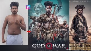 PicsArt God Of War Game Poster Photo Editing Tutorial Step By Step In Hindi In Picsart