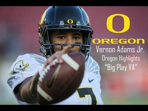 Vernon Adams Jr.    Big Play VA    Oregon Highlights