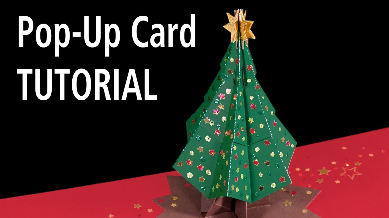 christmas tree pop up card tutorial youtube - Pop Up Christmas Tree With Lights And Decorations
