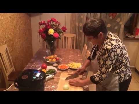 Свинина с болгарским перцем и картошкой в мультиварке