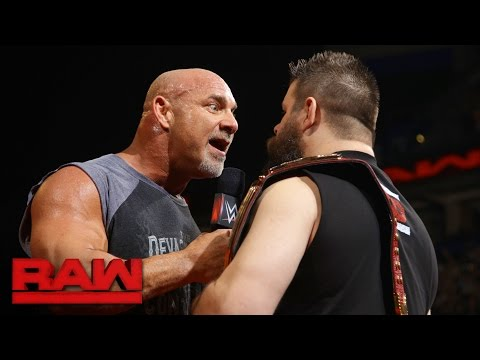 "Thumbnail: Goldberg joins the debut installment of ""The Kevin Owens Show"": Raw, Jan. 2, 2017"