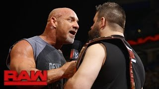 "Goldberg joins the debut installment of ""The Kevin Owens Show"": Raw, Jan. 2, 2017"