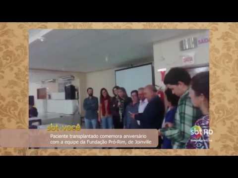 Paciente transplantado comemora aniversário com a equipe da Fundação Pró-Rim