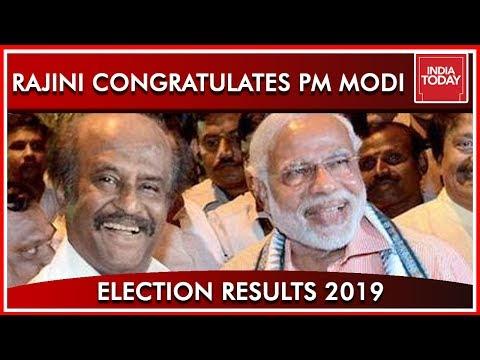 Rajinikanth Congratulates PM Modi In A Tweet  Results 2019