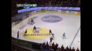 Frölunda - Färjestad, 4 jan 2014: Milan Gulas avgör