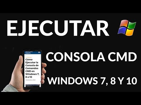 Cómo Ejecutar la Consola de Comandos CMD en Windows 7, 8 o 10