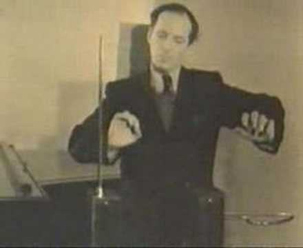 Leon Theremin playing his own instrument thumbnail