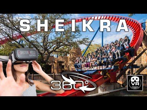 360° Dive Roller Coaster Sheikra | VR POV | Busch Gardens Florida Achterbahn Montaña Rusa #360video