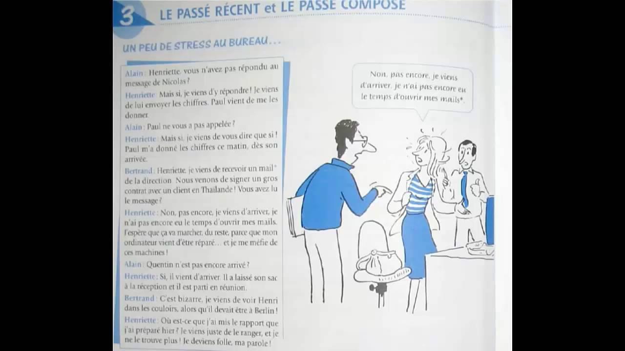 Dialogue en français nº:88 un peu de stress au bureau youtube