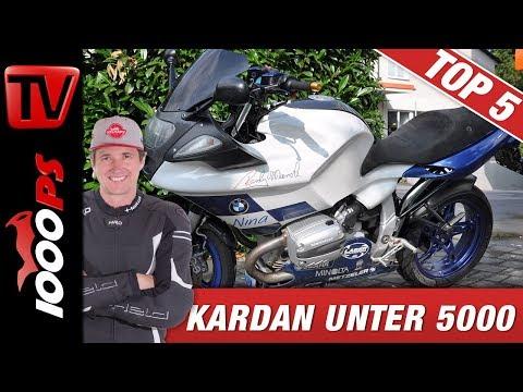 Top 5 - Motorräder mit Kardan unter 5000 Euro