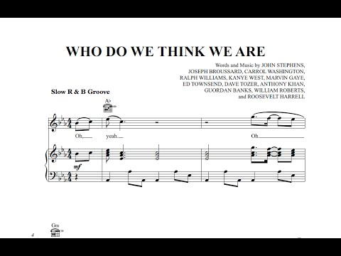 Who Do We Think We Are John Legend Ft Rick Ross Sheet Music And