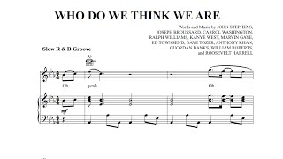 Who Do We Think We Are - John Legend ft. Rick Ross [Sheet Music and Midi Download]