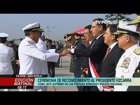 Presidente Vizcarra es reconocido como jefe supremo de las FF.AA. y PNP