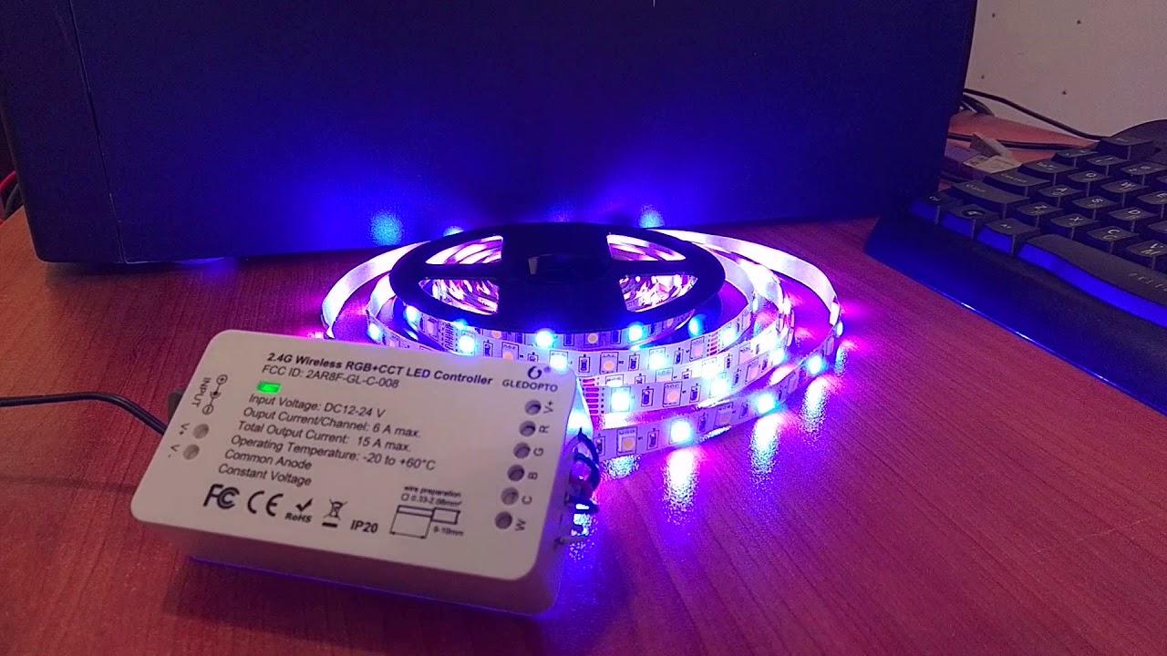 Gledopto Zigbee RGB+CCT Led Controller with zigbee2mqtt and Home Assistant
