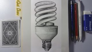 ✔ Como Dibujar un Bombillo Ahorrador (de Bajo Consumo) José Grullón – ArtQuit Draw