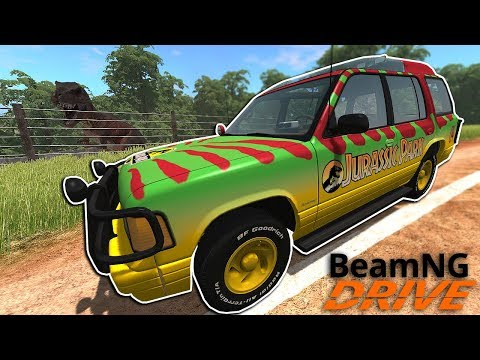 New Jurassic Park Map with Dinosaurs!? - BeamNG Drive Gameplay - Police Escape