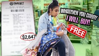 ANYTHING YOU CAN CARRY I'LL BUY IT CHALLENGE !!!(GIRLFRIEND)