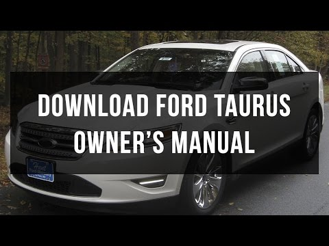 Download Ford Taurus owner's manual free