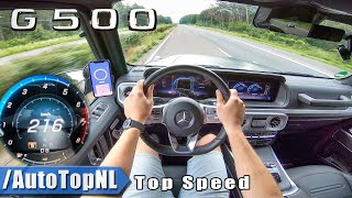 NEW! Mercedes Benz G500 216km/h TOP SPEED AUTOBAHN POV by AutoTopNL