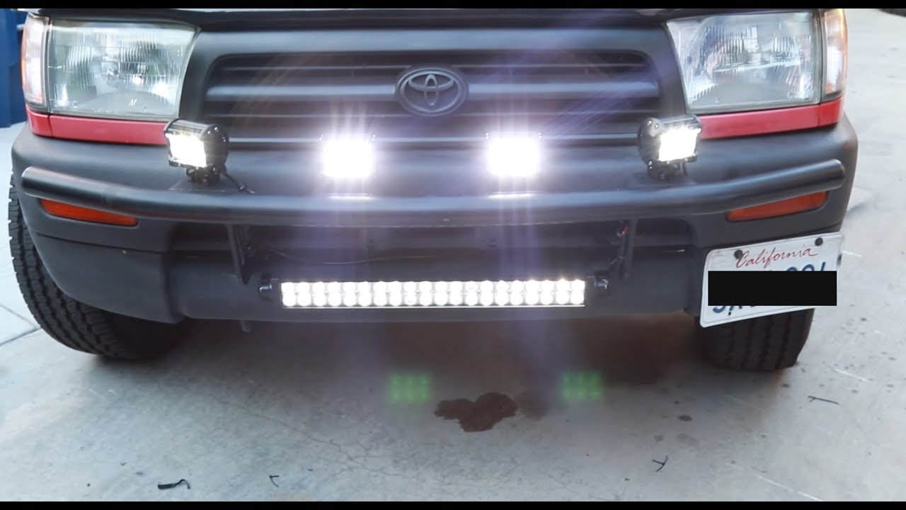 How to install led light bars on a toyota 4runner youtube how to install led light bars on a toyota 4runner mozeypictures Image collections