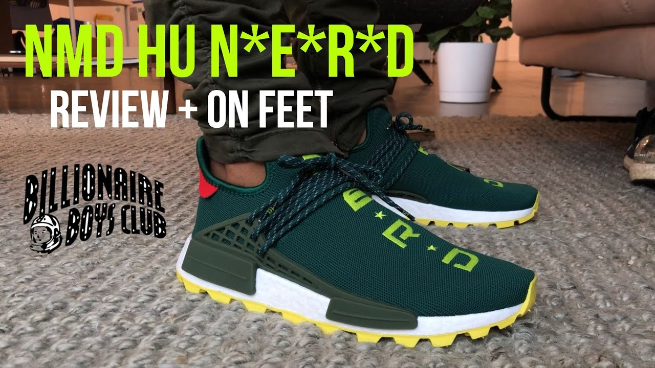 Adidas X Pharrell Human Race Nmd N E R D Green Bbc Exclusive Review On Feet 200 Pairs Youtube