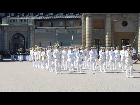 the changing of the guard 🏰 Royal Palace in central Stockholm