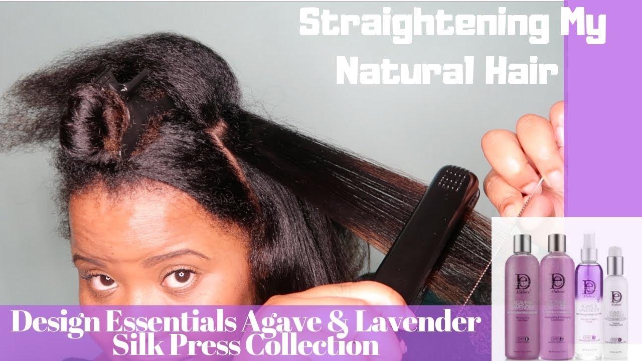 No Heat Damage Hair Straightening Ft Design Essentials Agave