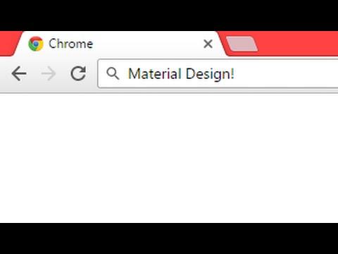 How to Get Material Design on Chrome Desktop!