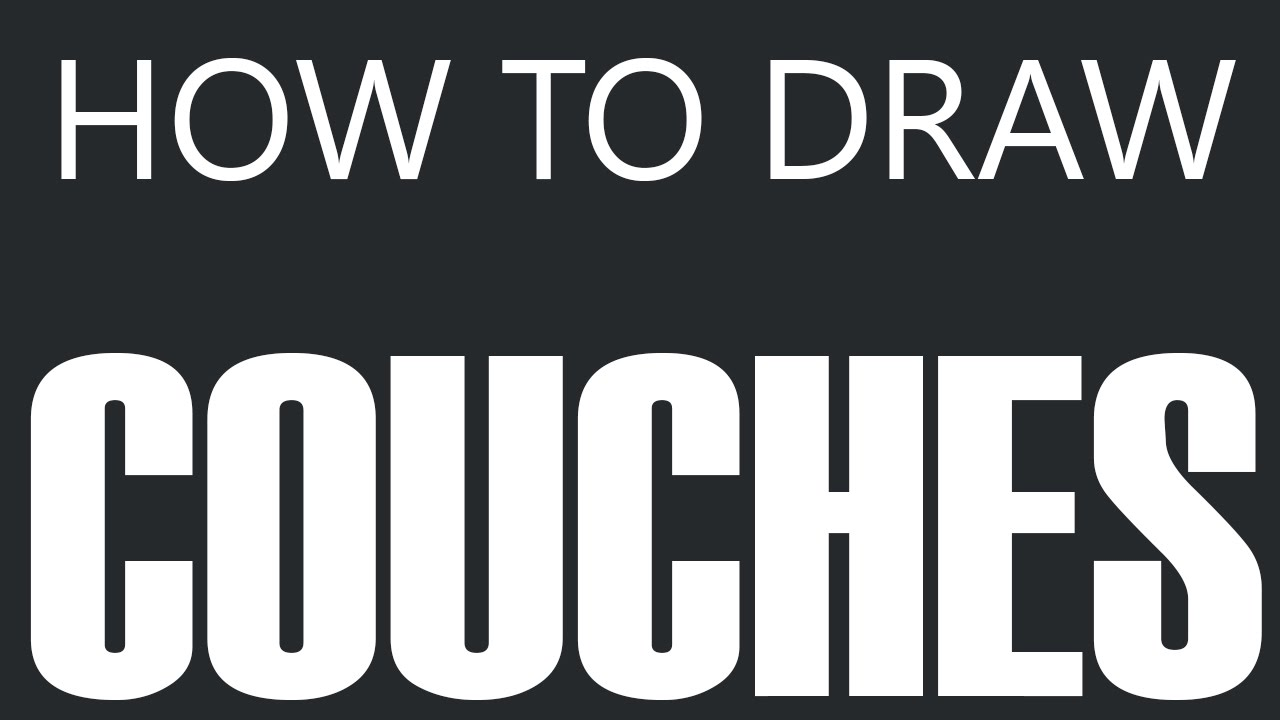 How To Draw A Couch - Custom Leather Couch Drawing (Sofa Cushions) - YouTube