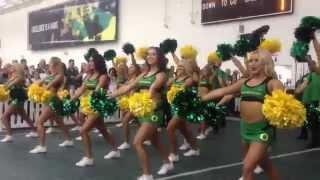 2014 University of Oregon Ducks Cheerleaders - Front Row