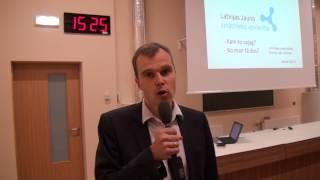 Dr.G.Krūmiņš par zinātnes popularizēšanu reģionos