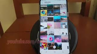 Samsung Galaxy S9 : How To Make Home Screen Wallpaper From Gallery (android Oreo)