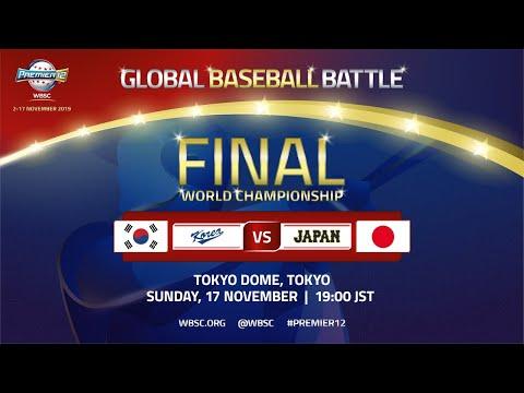 Premier12 Replay - Korea V Japan - WBSC 2019 Premier12 Championship Game