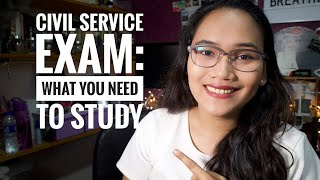 Civil Service Exam Coverage - What you need to study